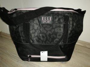 Elle Sport großer Shopper/Sporttasche schwarz/camouflage/rosé - neu mit Etikett -