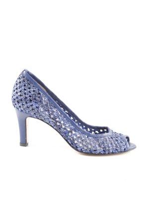 Elleme Peep Toe Pumps blue elegant