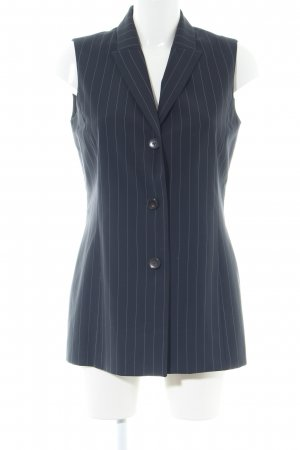 Ellen Tracy Waistcoat blue striped pattern business style