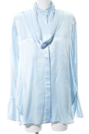 Ellery Seidenbluse babyblau schlichter Stil