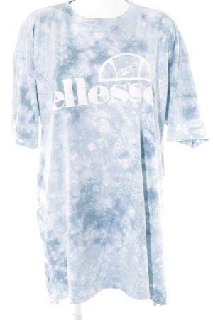 Ellesse Robe t-shirt blanc-bleu azur