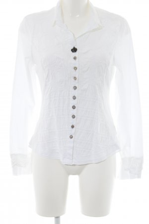 Elly Langarm-Bluse weiß Casual-Look
