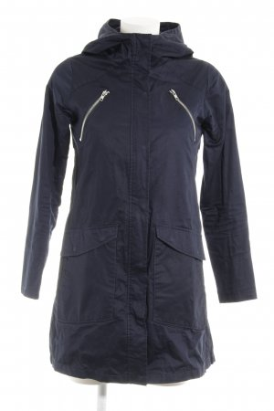Elvine Hooded Coat dark blue casual look