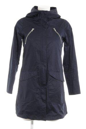 Elvine Manteau à capuche bleu foncé style décontracté