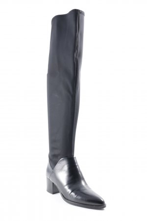 Elvio Zanon Stretch laarzen zwart minimalistische stijl
