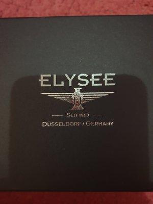 M. Elysee Orologio con cinturino di pelle nero-argento