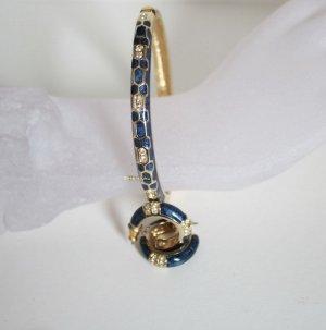 Vintage Braccialetto blu scuro-oro