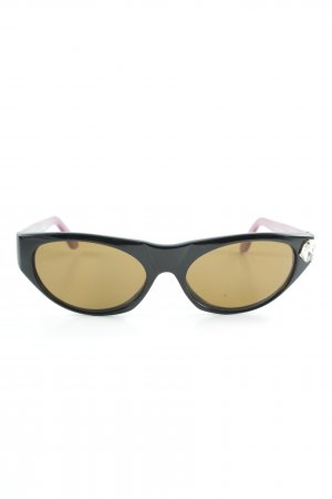 Emanuel Ungaro ovale Sonnenbrille schwarz-violett 90ies-Stil