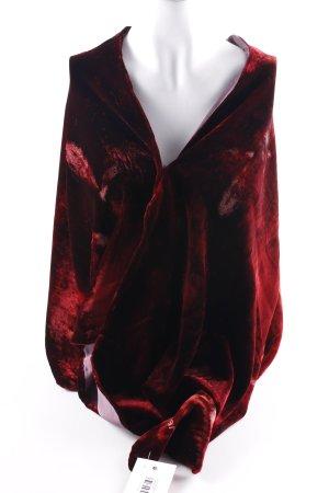 Emanuel Ungaro Étole rouge foncé motif floral style décontracté