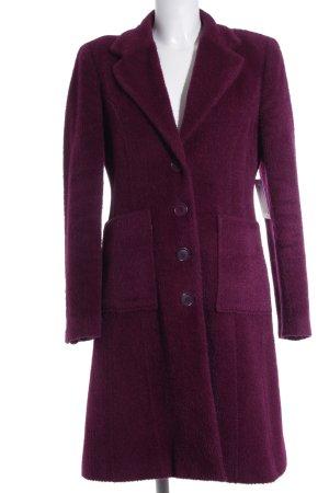 Emanuel Ungaro Abrigo de lana púrpura estilo minimalista