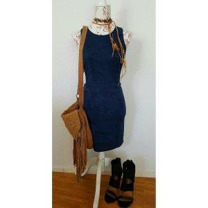 Leren jurk donkerblauw