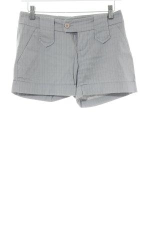 Embargo Hot Pants grau Streifenmuster klassischer Stil