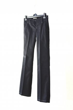 Low-Rise Trousers dark blue cotton