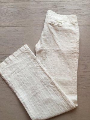 Embargo Pantalone a zampa d'elefante bianco Cotone