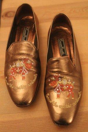 Ballerina oro Pelle