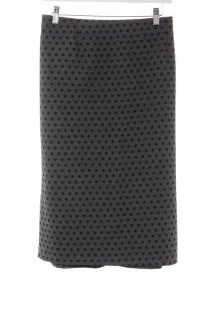 Emilia Lay Bleistiftrock schwarz-grau Punktemuster Casual-Look