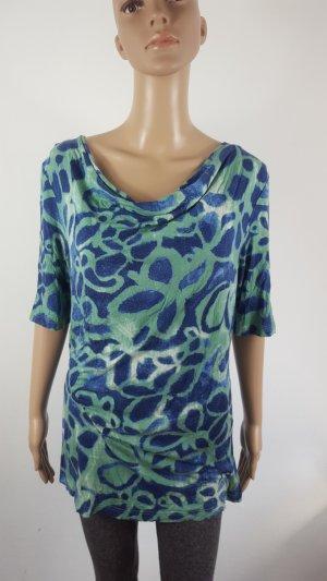 Emilia Lay Camicia a tunica verde-blu scuro