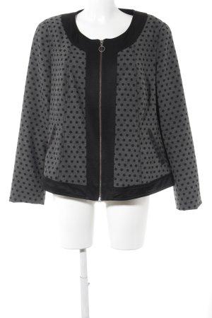 Emilia Lay Kurzjacke schwarz-grau Punktemuster Casual-Look