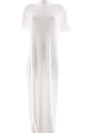 Emilia Lay Maxi-jurk wit Webpatroon casual uitstraling