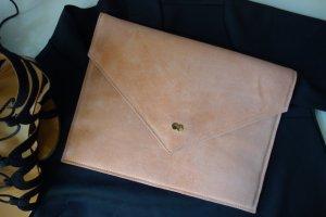 EMILIE Clutch Bag aus zartem Wildleder Rosa Handtasche Leder Project OONA