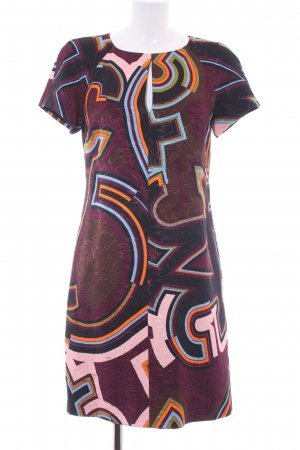 Emilio Pucci A-Linien Kleid bordeauxrot-schwarz abstraktes Muster Business-Look