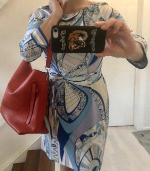 Emilio Pucci Kleid Dress knitterfrei silk jersey neu 36/38 Schmuck Gürtel