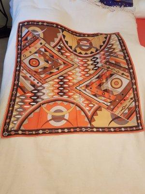 Emilio Pucci Zijden sjaal bruin-oranje