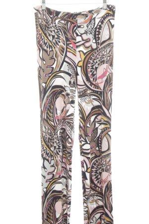 Emilio Pucci Stretchhose braun-wollweiß abstraktes Muster extravaganter Stil
