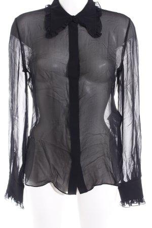 Emilio Pucci Transparenz-Bluse schwarz Elegant
