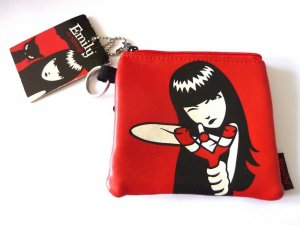 Emily Strange Portemonnaie Geldbörse mit Motiv rot