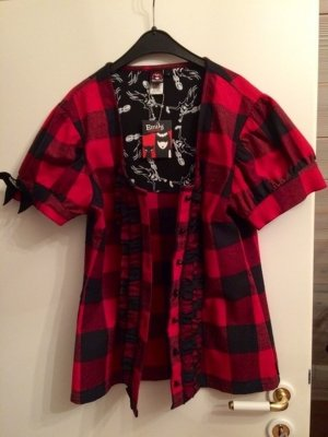 Emily the Strange Bluse L 42/44 NEU Plaid rot