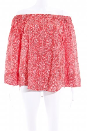 Emily van den Bergh Carmen Blouse white-bright red spot pattern casual look