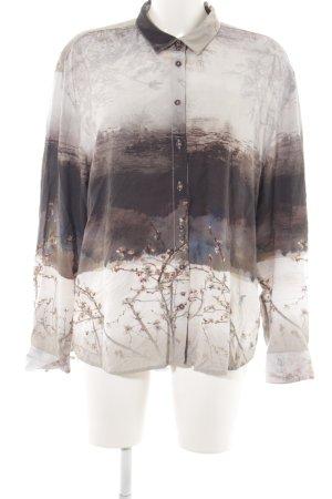 Emily van den Bergh Hemd-Bluse Allover-Druck Casual-Look