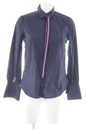 Emily van den Bergh Hemd-Bluse dunkelblau Business-Look