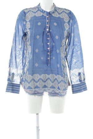 Emily van den Bergh Hemd-Bluse Ornamentenmuster Casual-Look