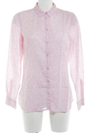 Emily van den Bergh Hemd-Bluse rosa-wollweiß Sternenmuster Casual-Look