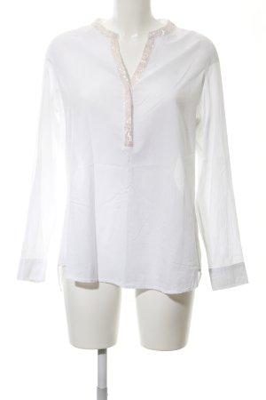 Emily van den Bergh Hemd-Bluse weiß-rosé schlichter Stil