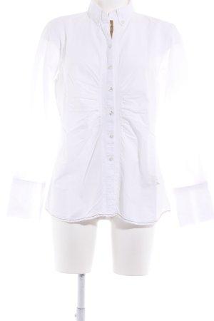Emily van den Bergh Hemd-Bluse weiß schlichter Stil