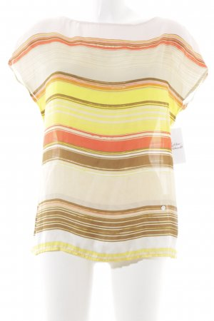 Emily van den Bergh Kurzarm-Bluse mehrfarbig