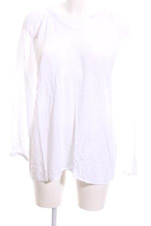 Emily van den Bergh Langarm-Bluse weiß Casual-Look