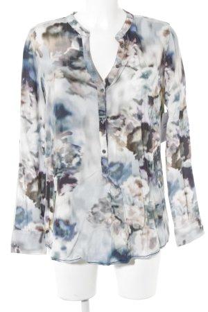 Emily van den Bergh Langarm-Bluse abstraktes Muster Business-Look