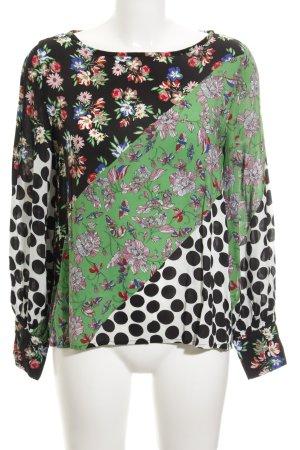 Emily van den Bergh Langarm-Bluse Blumenmuster