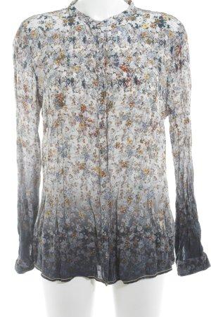 Emily van den Bergh Langarm-Bluse Blumenmuster Romantik-Look