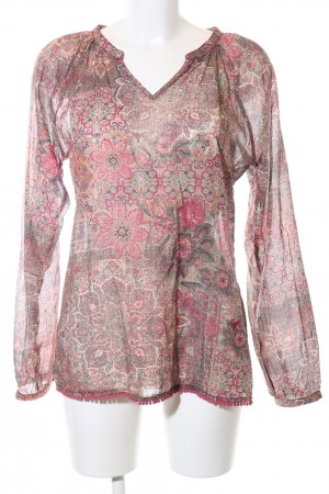 Emily van den Bergh Langarm-Bluse Blumenmuster Casual-Look