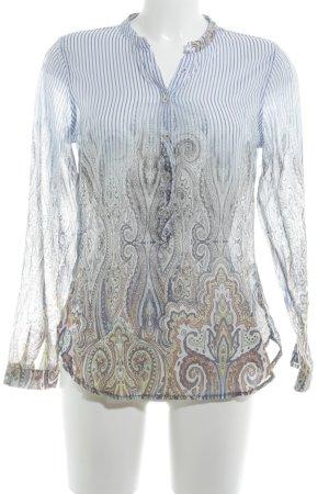 Emily van den Bergh Langarm-Bluse Ethnomuster klassischer Stil
