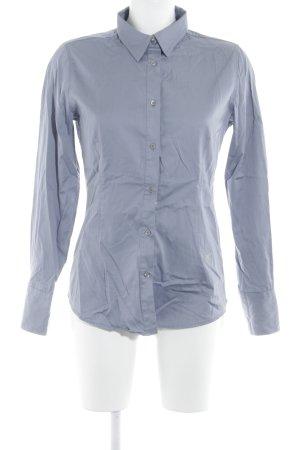 Emily van den Bergh Langarm-Bluse hellgrau-silberfarben Business-Look