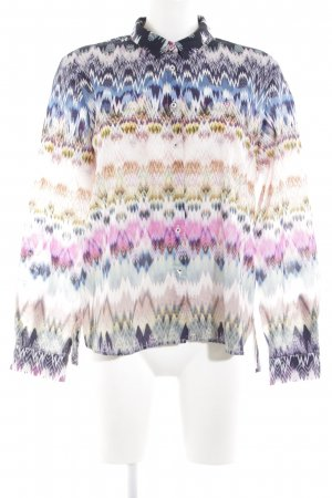 Emily van den Bergh Long Sleeve Shirt abstract pattern extravagant style