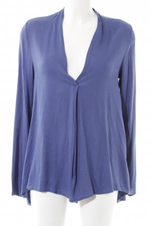 Emily van den Bergh Slip-over blouse blauw casual uitstraling