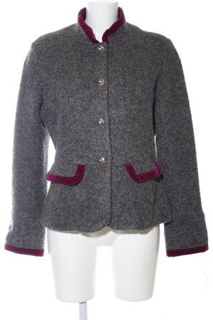 Emily van den Bergh Traditional Jacket light grey-red flecked casual look