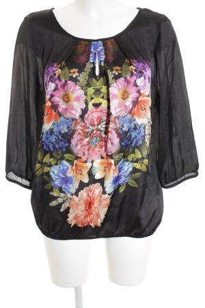 Emily van den Bergh Transparenz-Bluse Blumenmuster Elegant